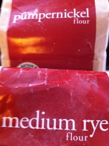Pumpernickel or Medium Rye: half & half