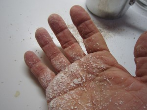How not to add too much flour: just dust your hands