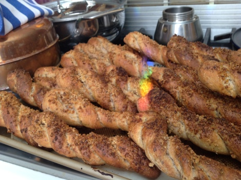Oatmeal Twists with rainbow