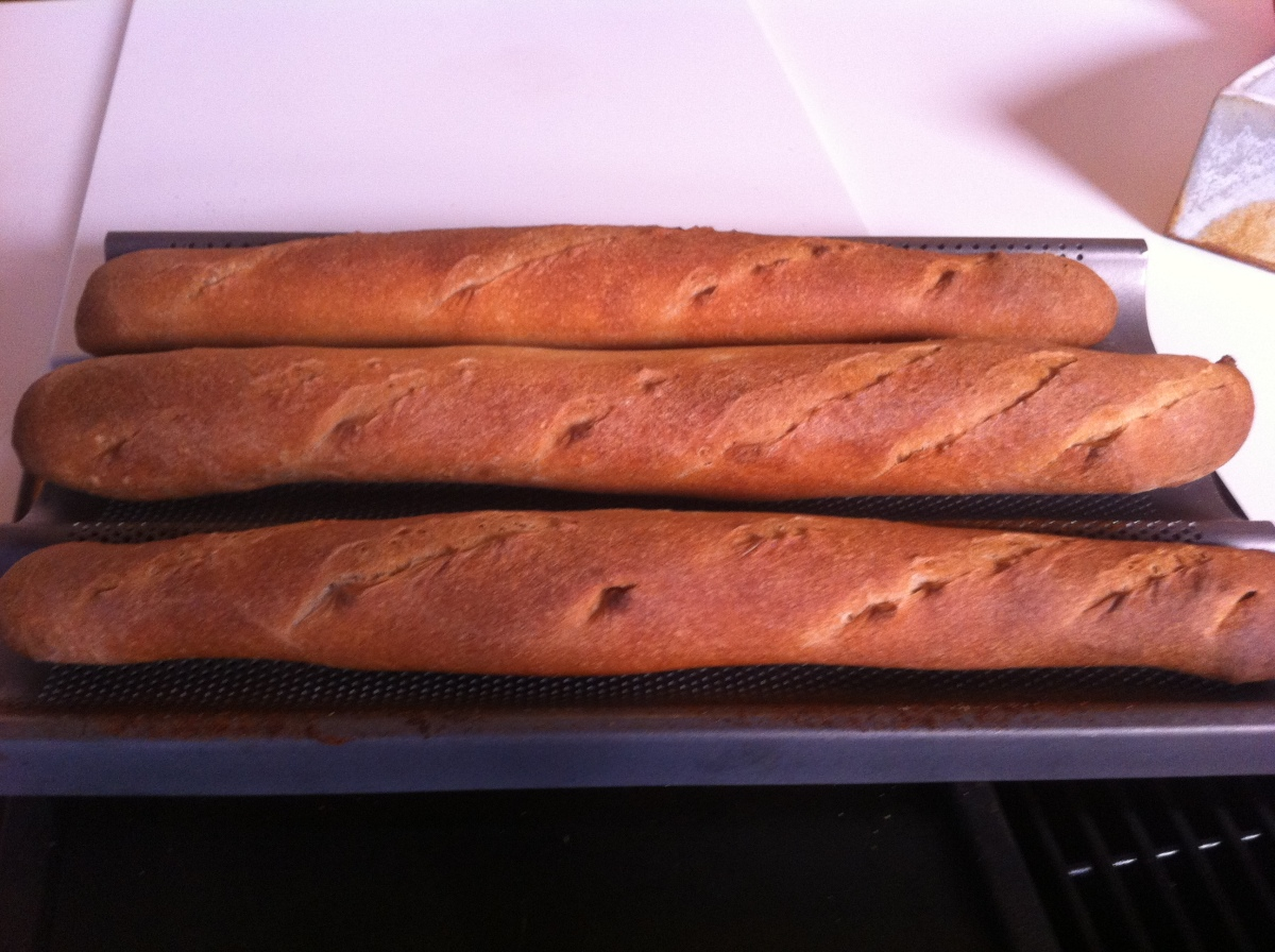 Used my French Bread Form and got well shaped and just the right length loaves.  Tasted great.
