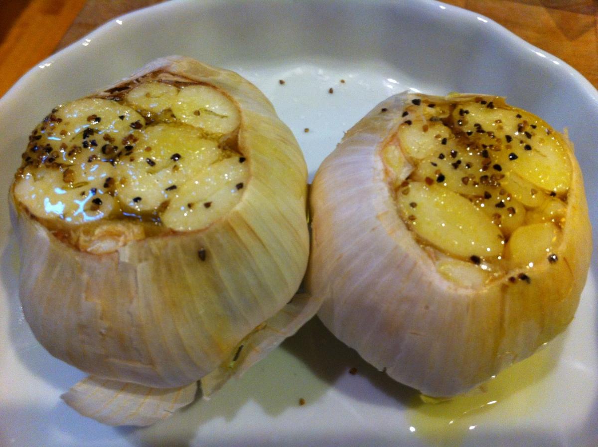Roasted garlic: 1st loaf, mild sweet flavor