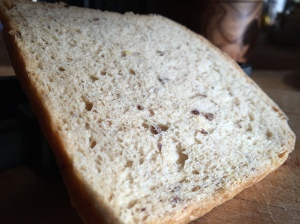 Maybe the crumb was slightly more open baked with the lid off but it wasn't a great difference.